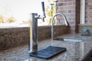 outdoor kitchen beer tap