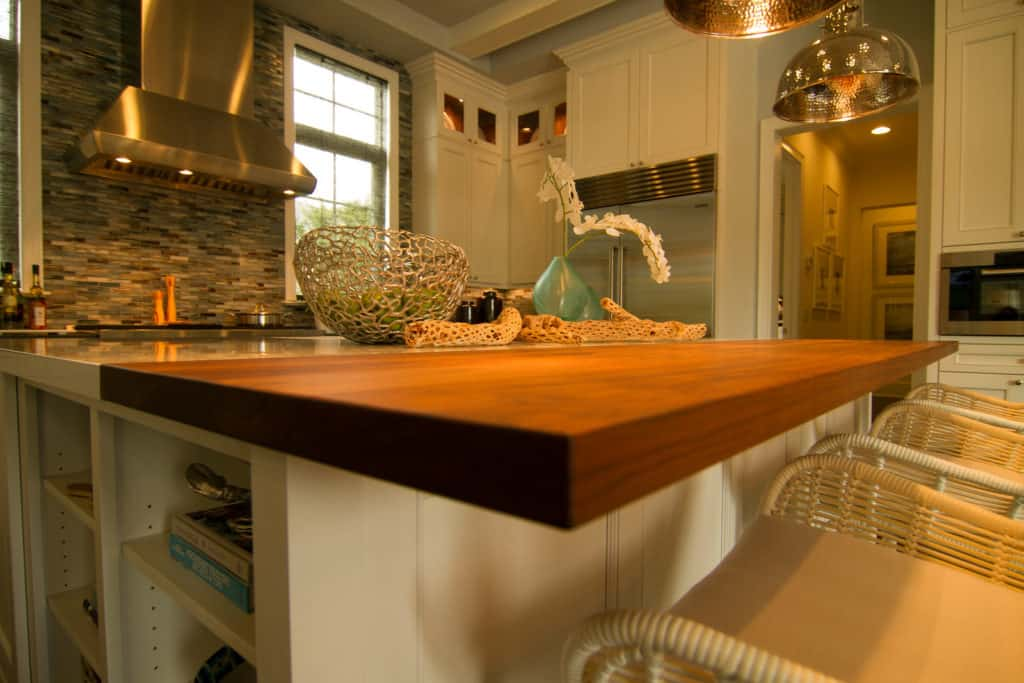 wood butcher block countertop finish