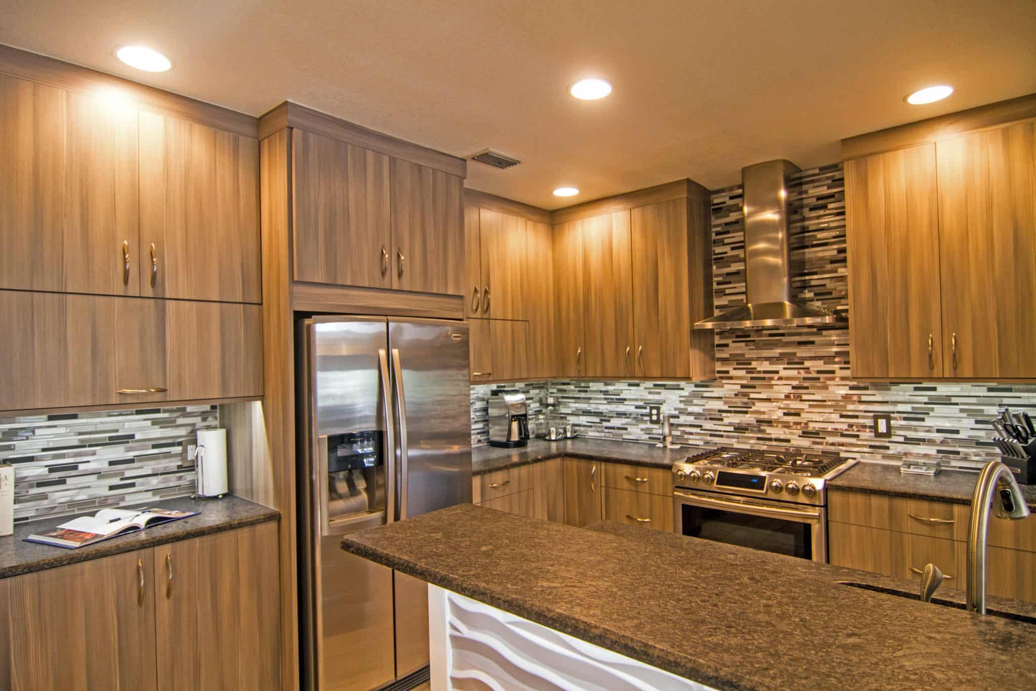 wood grain cabinets