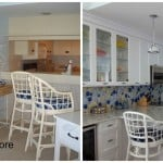 before and after image of remodeled kitchen